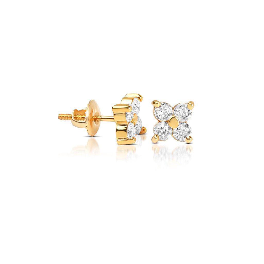 diamond cluster earrings baby fortuna if co