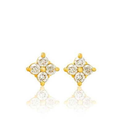 Fortuna Diamond Cluster Earrings - Earrings - IF & Co. Custom Jewelry