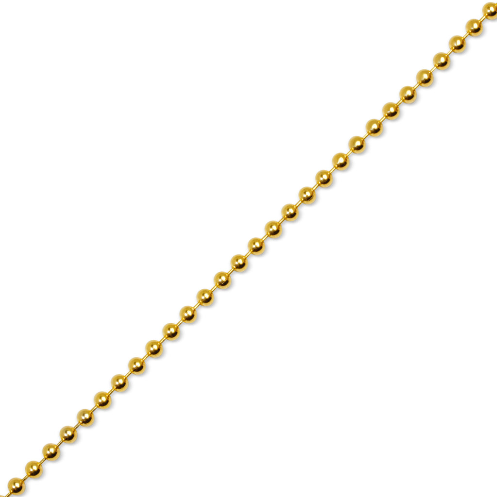 ball chain. gold ball chain a
