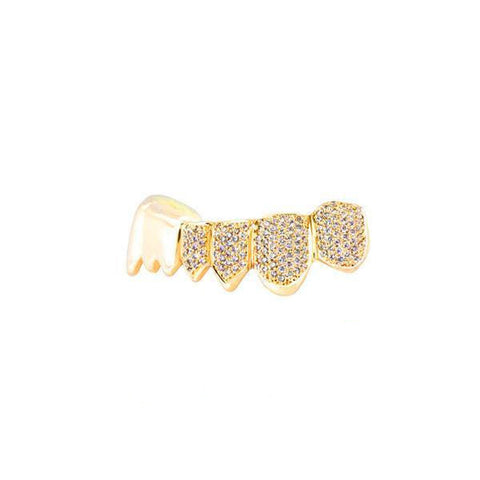 Iced out Grills Yellow Gold Ifandco