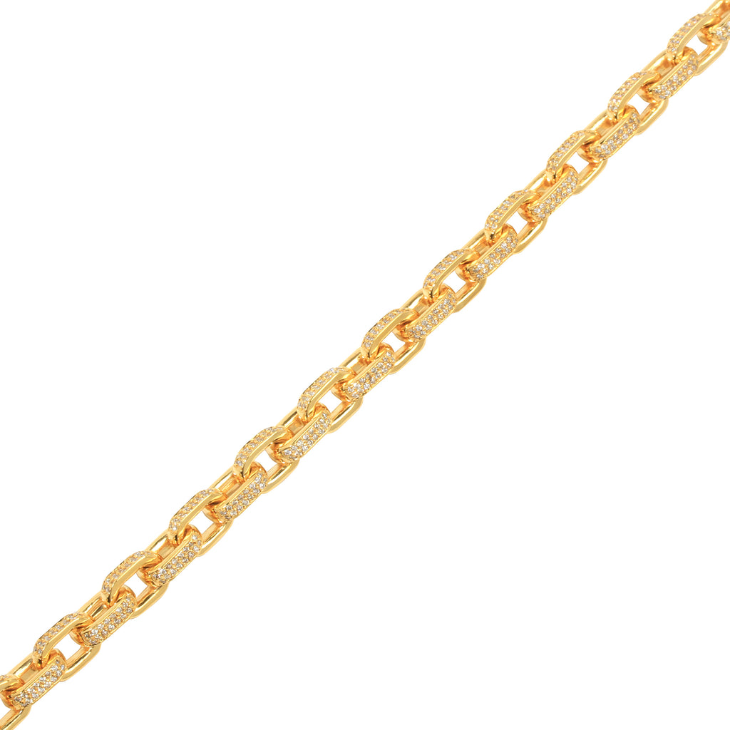Diamond Odin Link Chain (8mm) - Chains - IF & Co. Custom Jewelry