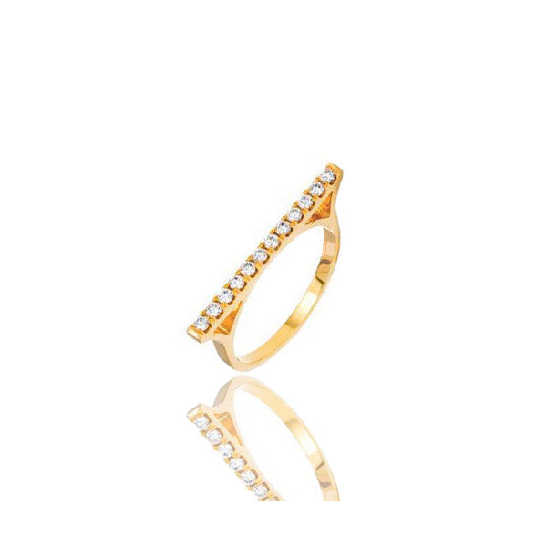 Micro Elle Diamond Bar Ring - Rings - IF & Co. Custom Jewelry