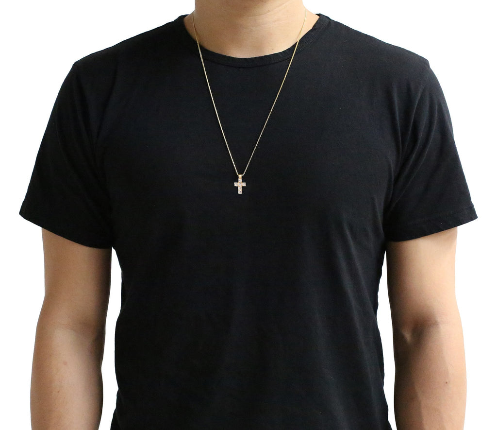 Micro Benny Cross Necklace - Pendants - IF & Co.