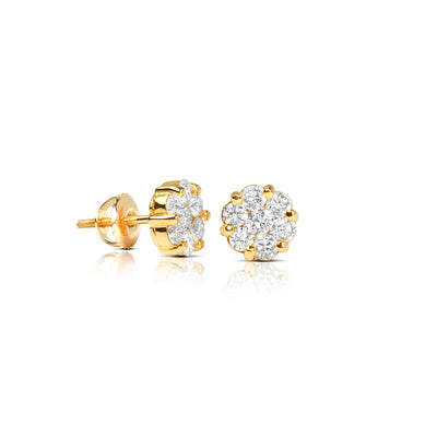 Nano Dax Diamond Cluster Earrings - Earrings - IF & Co. Custom Jewelry