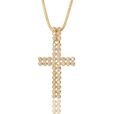 Diamond Peri Cross Necklace