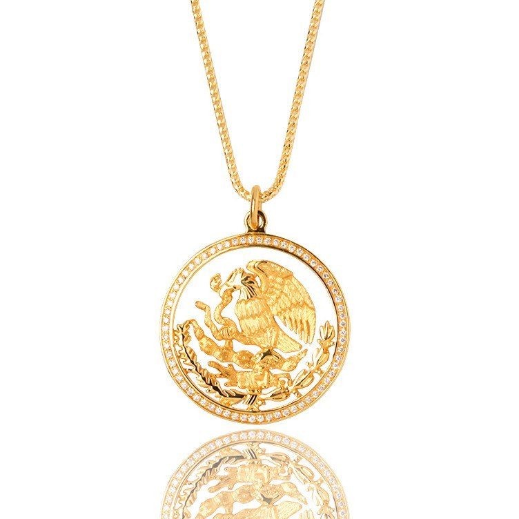 Coat of Arms Necklace Mexico Tribute IF Co