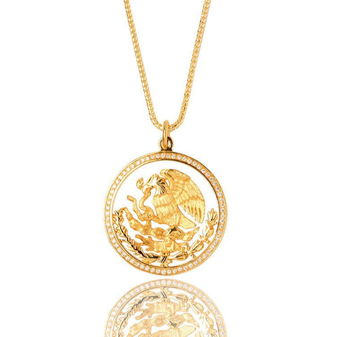 Coat Of Arms Piece Yellow Gold Mexico