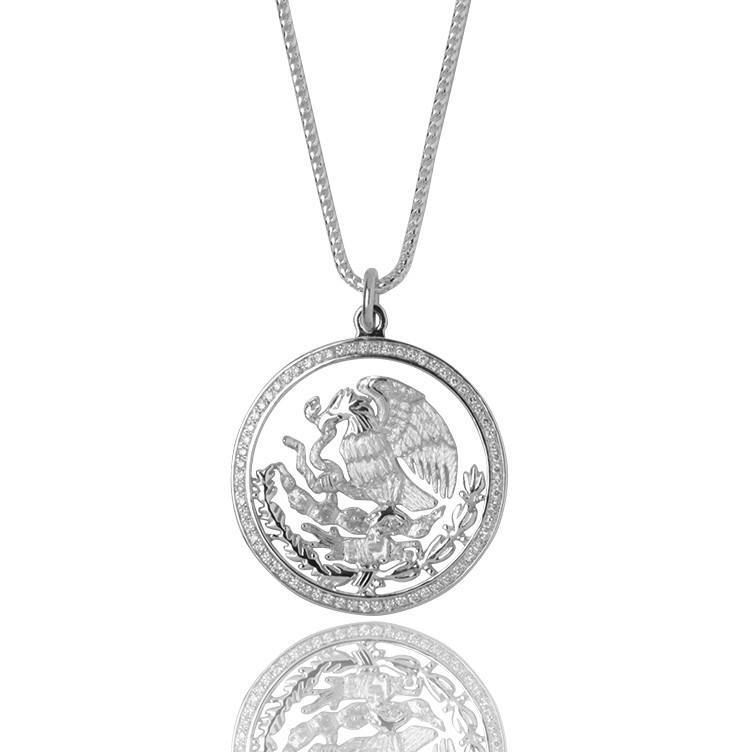 Coat of Arms Necklace (Mexico Tribute) - Pendants - IF & Co. Custom Jewelry