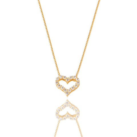 Diamond Heart Necklace Yellow Gold