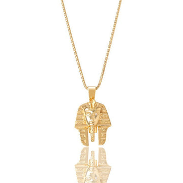 Legacy Piece: Micro Pharaoh Piece (Diamond Eyes) - Pendants - IF & Co. Custom Jewelry