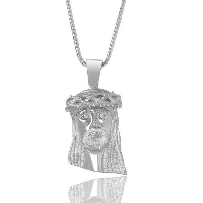 Silver Baby Jesus Piece (Diamond Eyes) - Pendants - IF & Co.