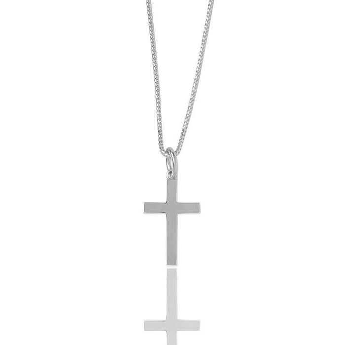 Silver Micro Tori Cross Necklace - Pendants - IF & Co.