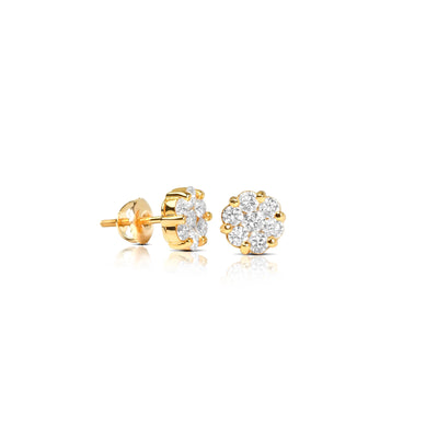 Pico Dax Diamond Cluster Earrings