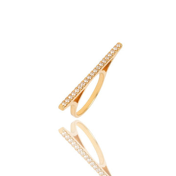 Baby Elle Diamond Bar Ring - Rings - IF & Co. Custom Jewelry