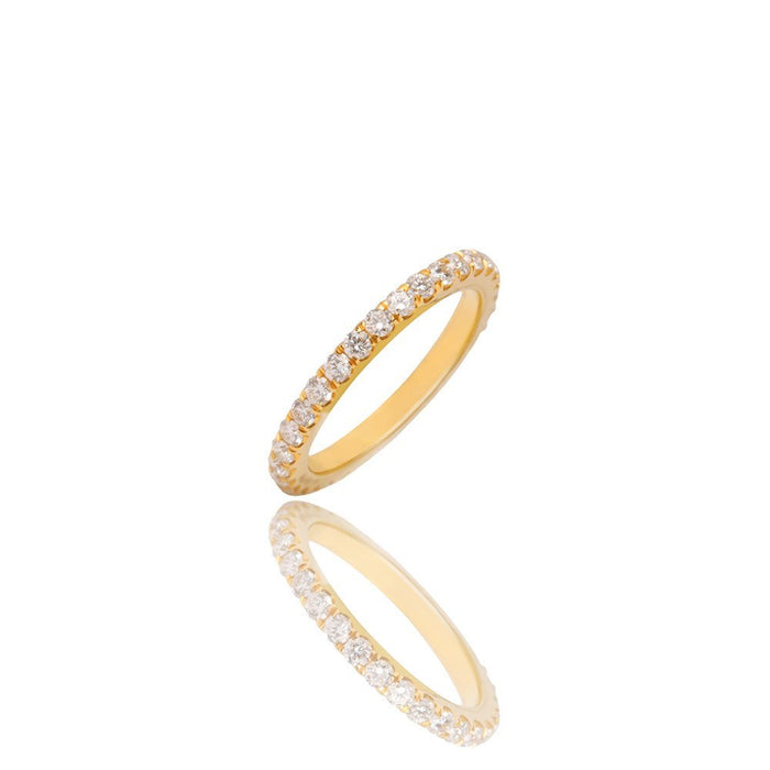 Baby Elle Eternity Ring - Yellow Gold Rings - IF & Co.