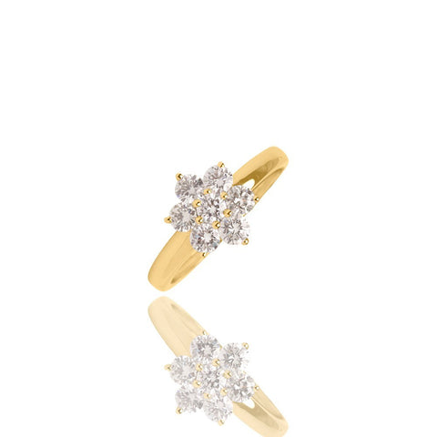 Diamond Ring Dita Yellow Gold Ifandco
