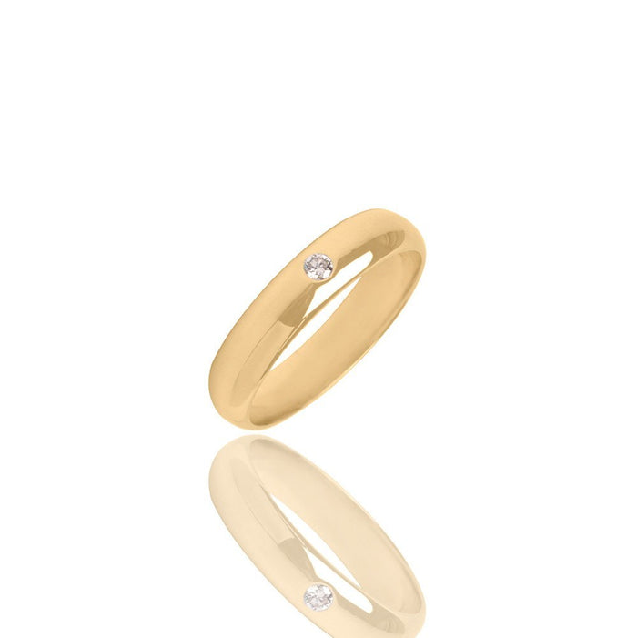 Iris Yellow Gold Ring