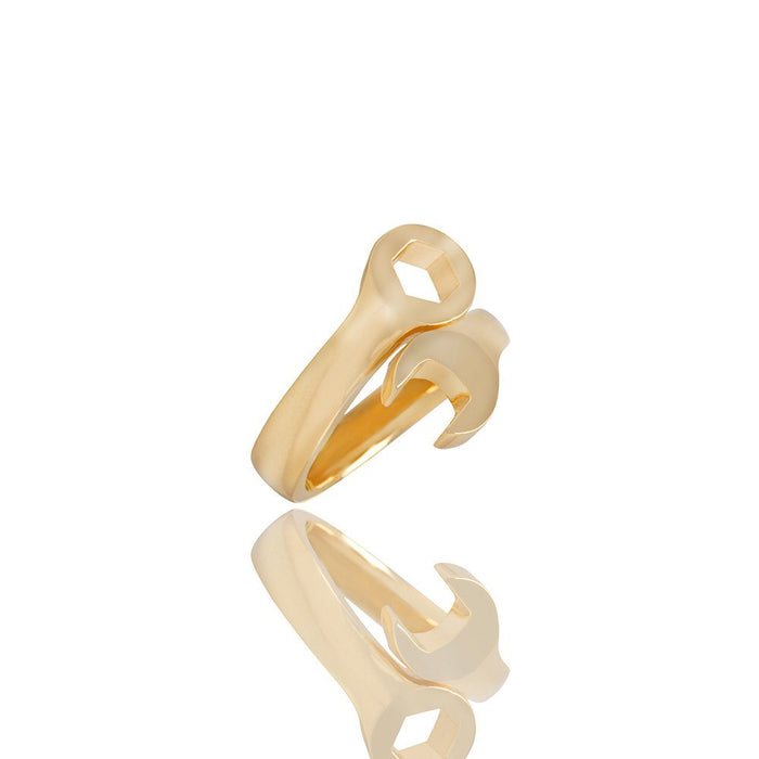 Wrench Ring Yellow Gold Ifandco