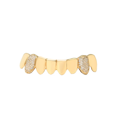Gold Grill (Diamond Fangs Only) - Grills - IF & Co. Custom Jewelry