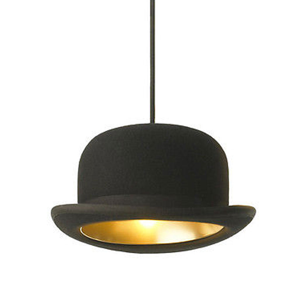 British Jeeves Bowler Hat Ceiling Light - Gold -  Little British Shop - 3