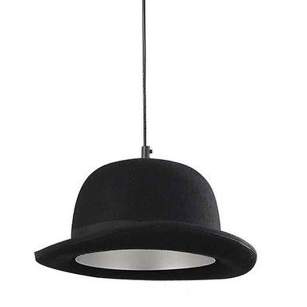 British Jeeves Bowler Hat Ceiling Light - Silver -  Little British Shop - 4
