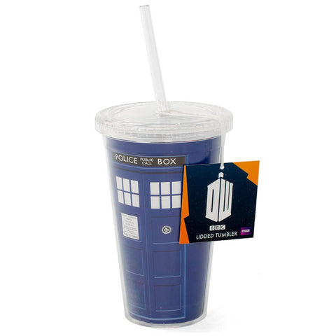 Doctor Who Tardis 16 oz. Tumbler Cup -  -  Little British Shop - 1