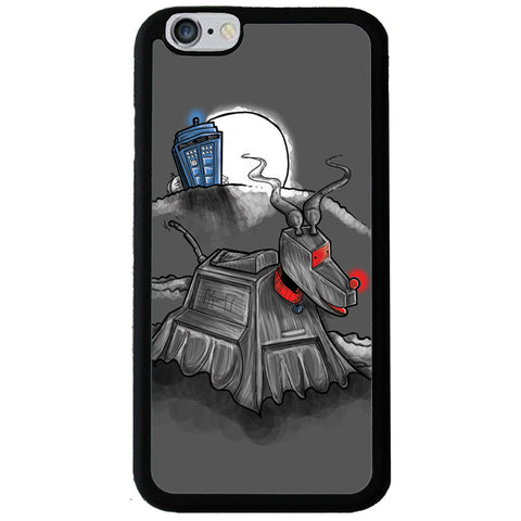 Doctor Who Tardis & K-9 Robot Illustration Phone Case -  -  Little British Shop