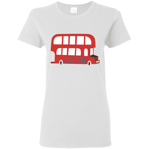 Cute London Red Double Decker Bus - Women's T-Shirt