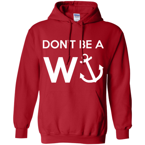 Don't Be A Wanker Funny - (Brit Slang) White Text - Unisex Hoodie