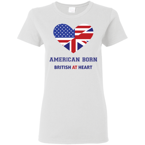 American Born British At Heart - Women's T-Shirt