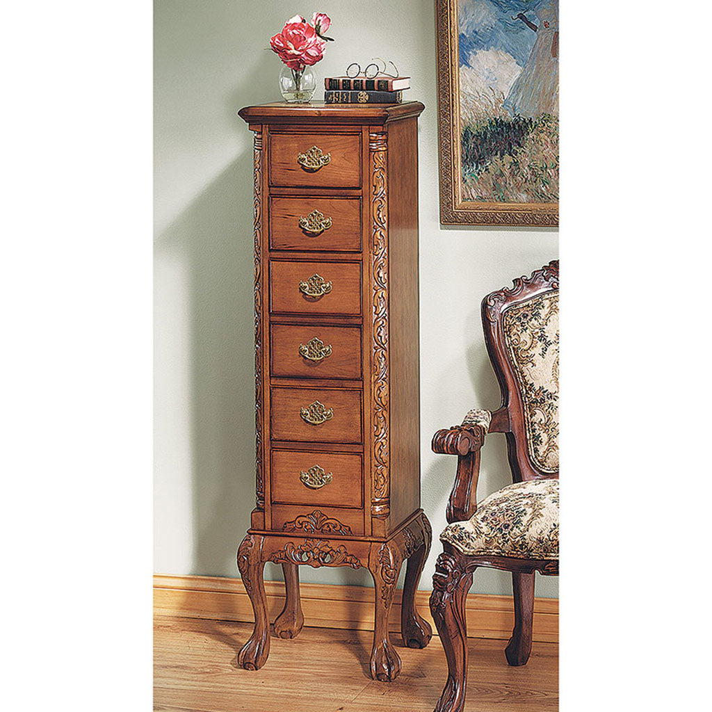 English Chippendale Tallboy Antique Replica -  -  Little British Shop - 1