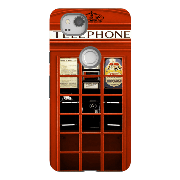 Google 2-H.M. British Red Telephone Box - Tough Dual Layer Protected Phone Case
