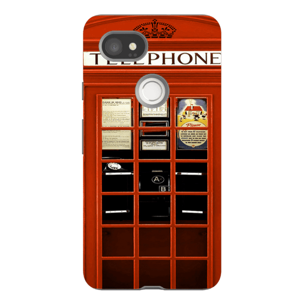Google Pixel 2XL-H.M. British Red Telephone Box - Tough Dual Layer Protected Phone Case