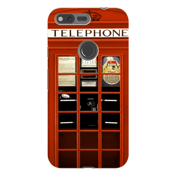 Google Pixel XL-H.M. British Red Telephone Box - Tough Dual Layer Protected Phone Case