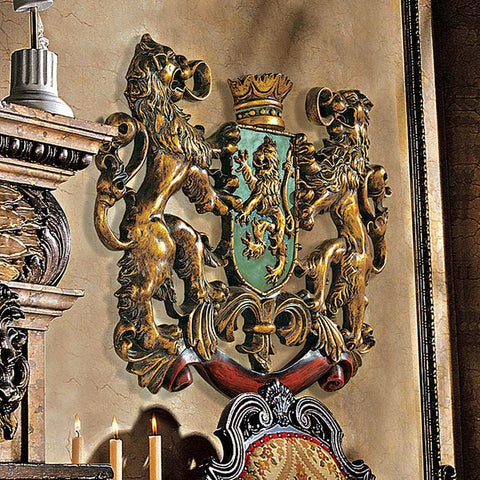 British Heraldic Coat of Arms of Royalty Sculpture -  -  Little British Shop