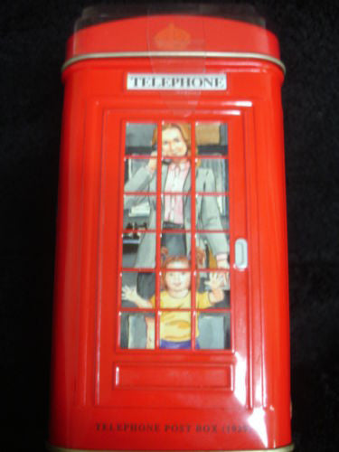 H.M. British Red Telephone Booth Tea Gift Tin - Includes 25 Tea Bags -  -  Little British Shop - 2
