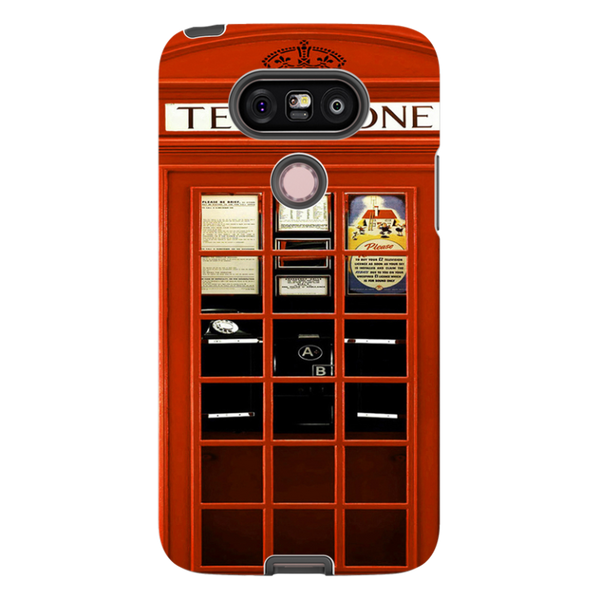 -H.M. British Red Telephone Box - Tough Dual Layer Protected Phone Case