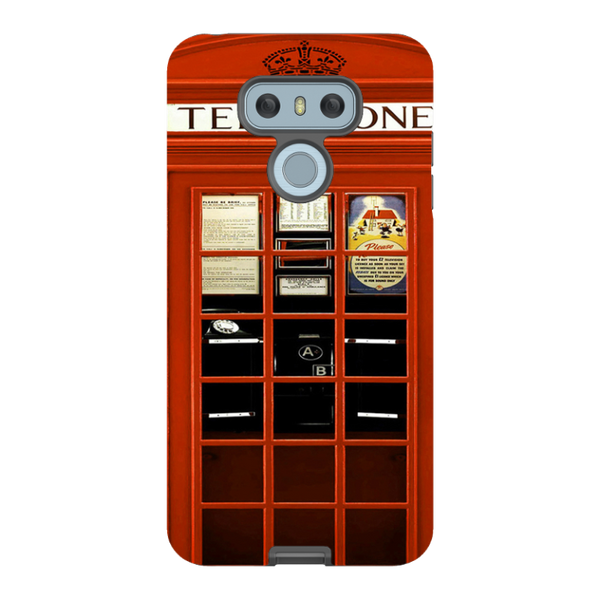 LG G6-H.M. British Red Telephone Box - Tough Dual Layer Protected Phone Case