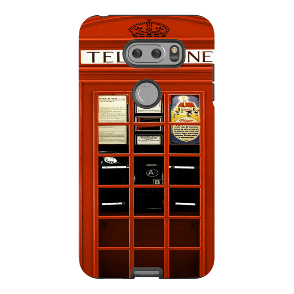 LG V30-H.M. British Red Telephone Box - Tough Dual Layer Protected Phone Case