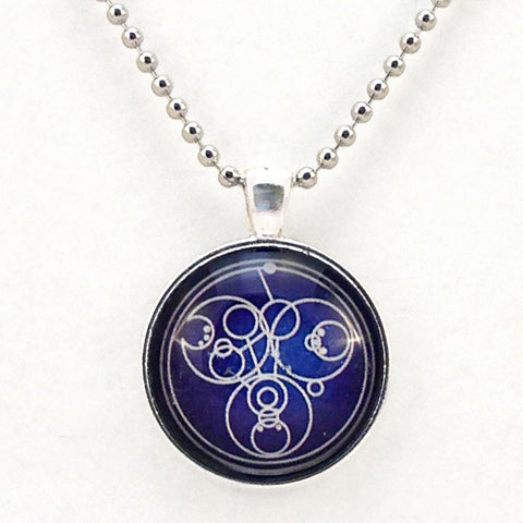 Gallifrey Come Along Pond - Necklace or Keyring Hand Crafted Bezel -  -  Little British Shop