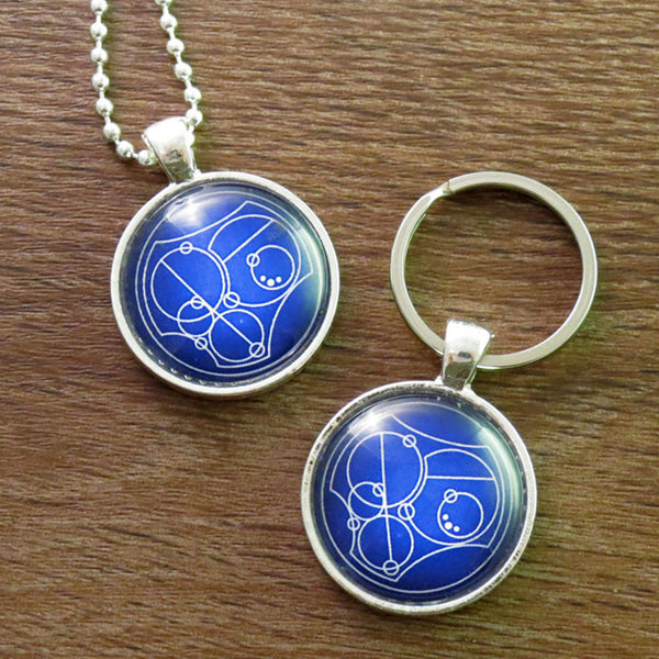 Gallifrey I Love Thou - Necklace or Keyring Hand Crafted Bezel -  -  Little British Shop - 3