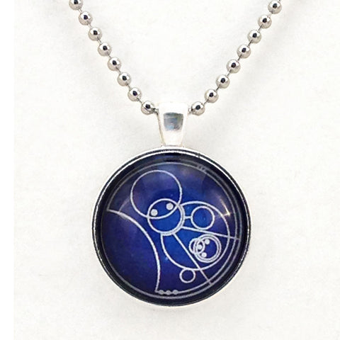 Gallifrey Allons-y - Necklace or Keyring Hand Crafted Bezel -  -  Little British Shop