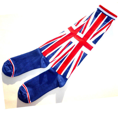 Union Jack British Flag Knee High Ladies Socks -  -  Little British Shop