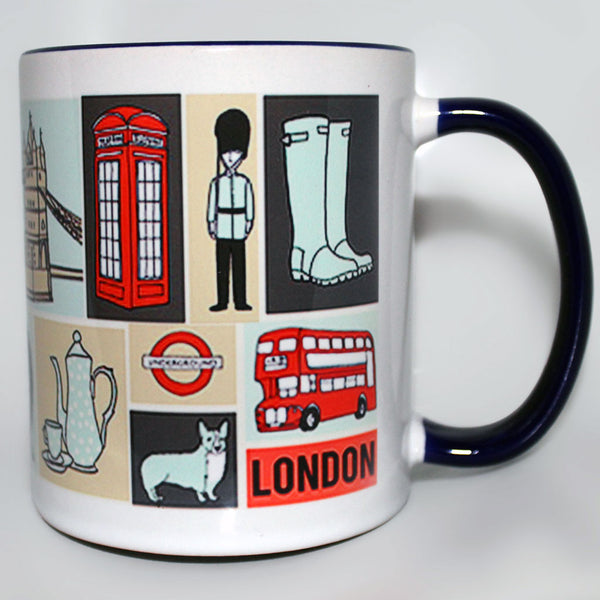London Illustrated Mug -  -  Little British Shop - 4