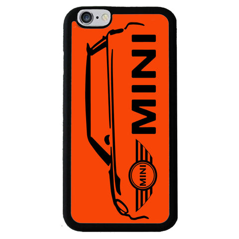 British Mini Car Mobile Rubber Phone Cases - Orange-Black - iPhone 6/6s -  Little British Shop