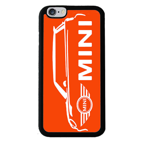 British Mini Car Mobile Rubber Phone Cases - Orange - iPhone 6/6s -  Little British Shop