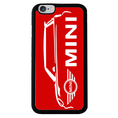 British Mini Car Mobile Rubber Phone Cases - Red -  -  Little British Shop