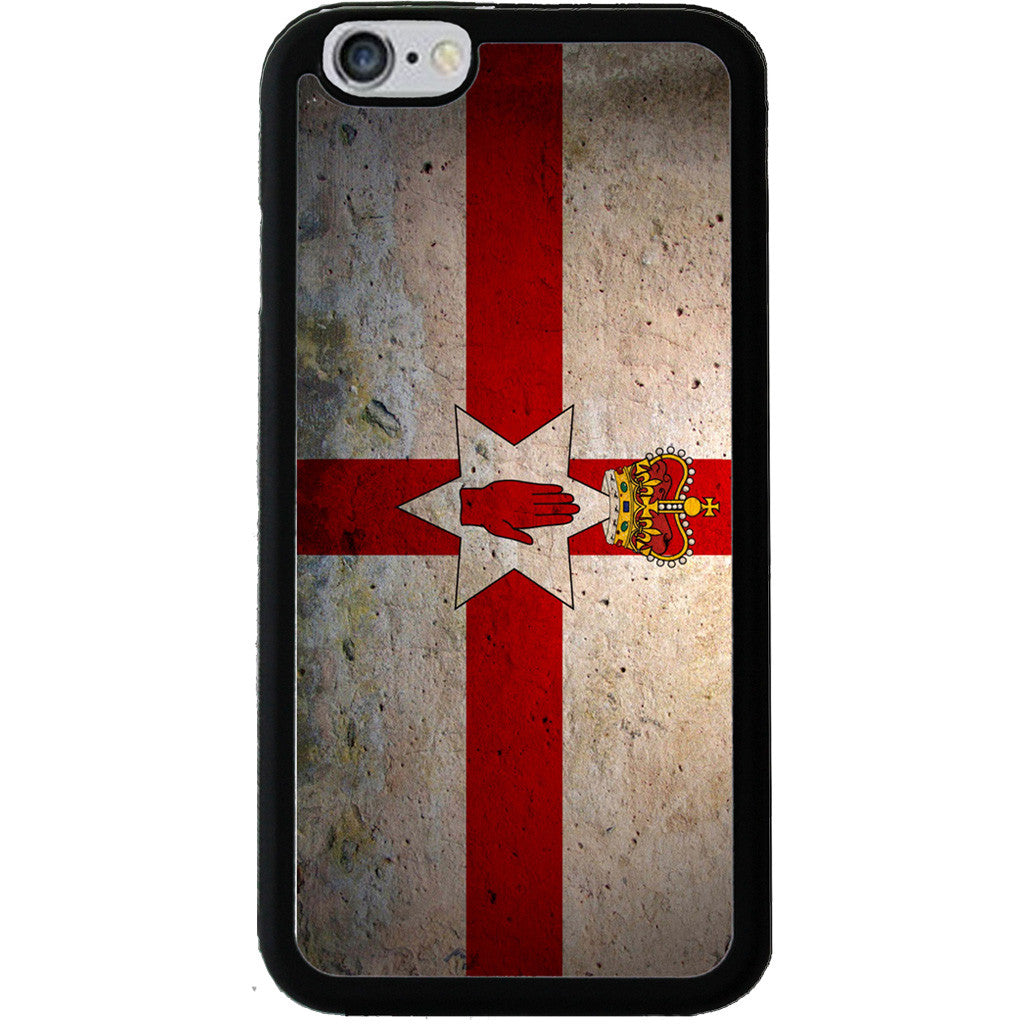 Northern Ireland Ulster Banner Flag Grunge Style - Rubber Phone Case - iPhone 6/6s -  Little British Shop - 1