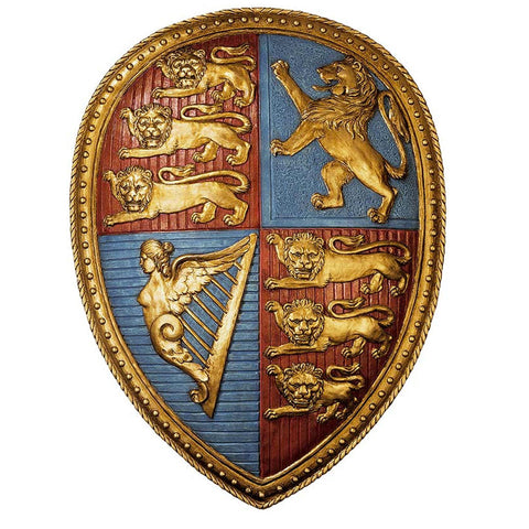 Royal British Queen Victoria's Coat of Arms Shield Sculpture -  -  Little British Shop