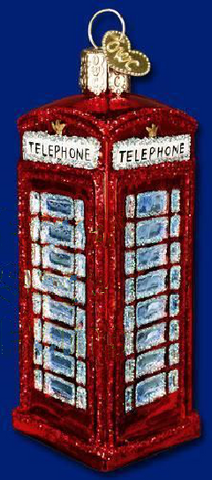 British Red Telephone Box Glass Christmas Ornament -  -  Little British Shop
